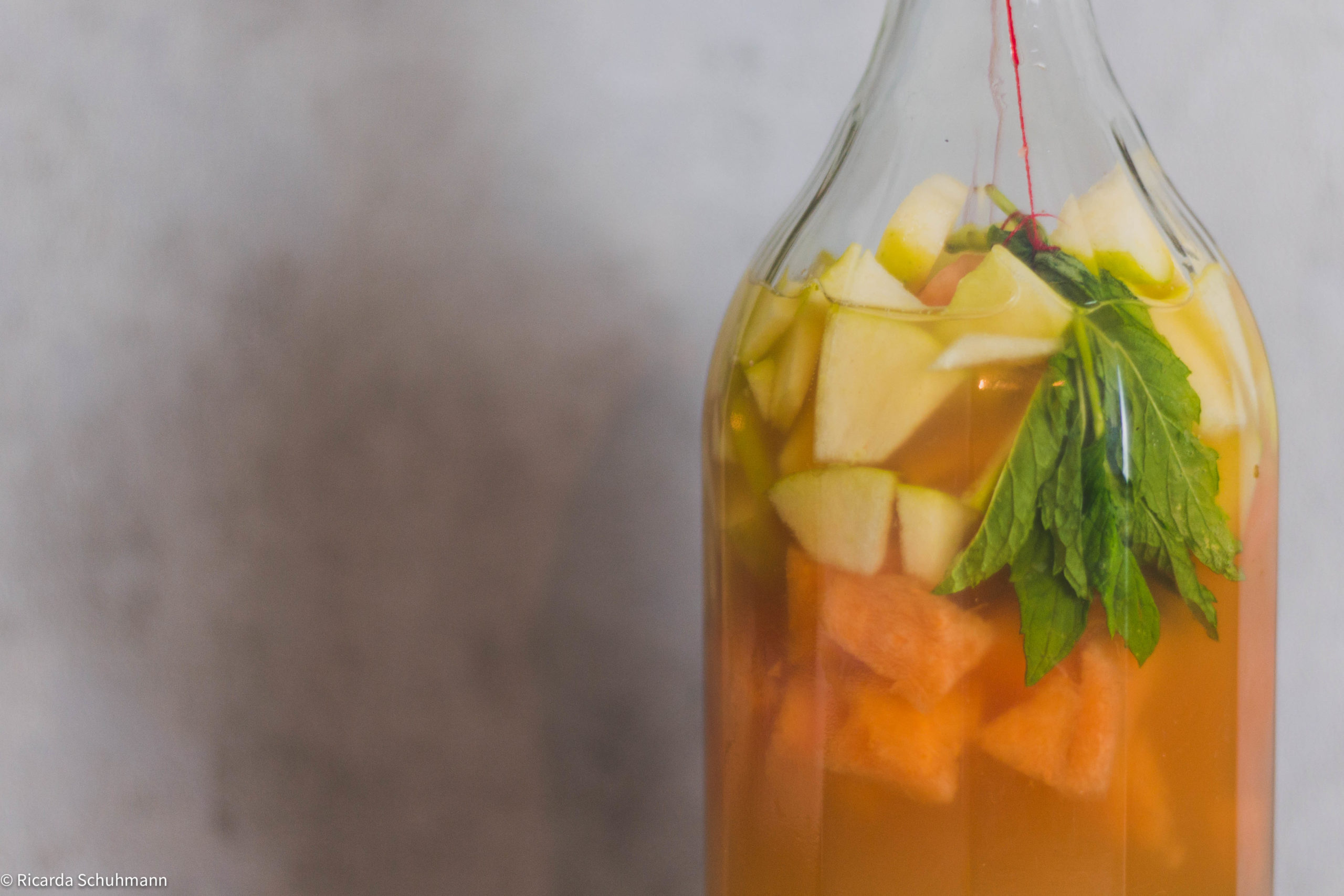 Kombucha mit Cantaloupe Melone