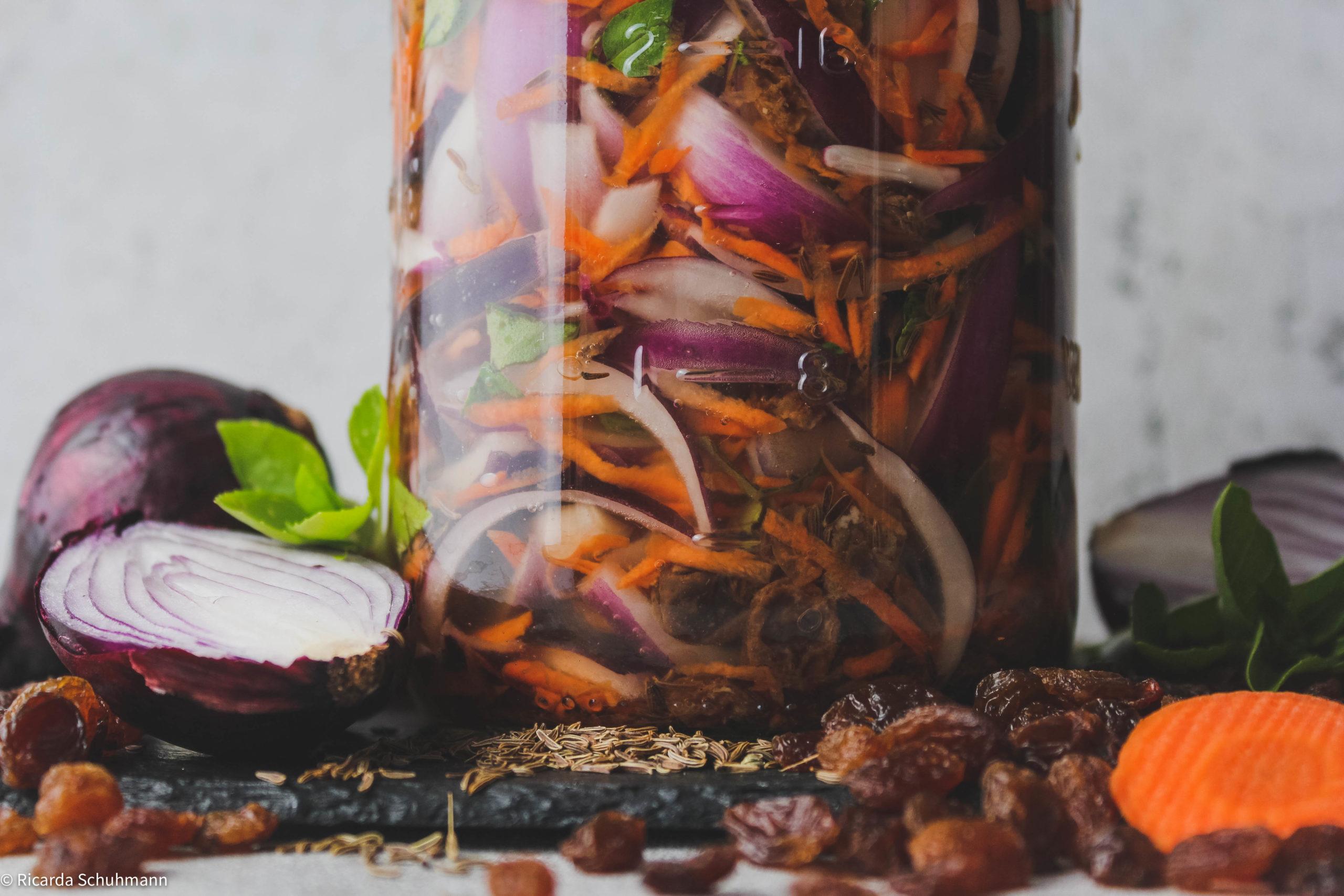 Würziger Zwiebelmix fermentiert
