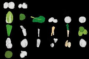 Saisonal verfügbares Gemüse im Februar