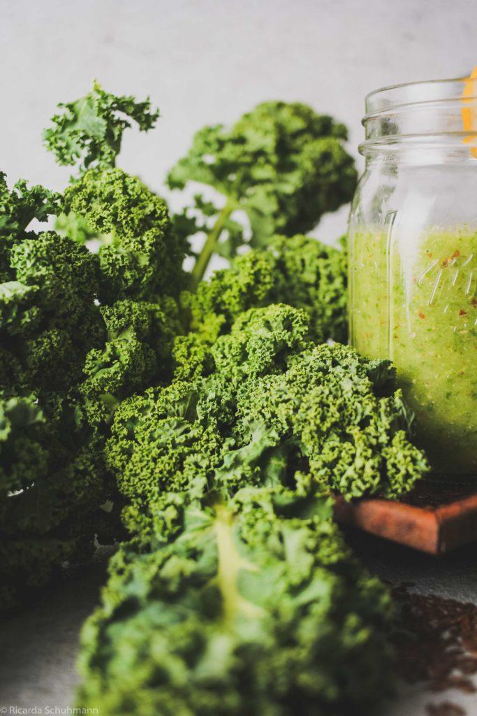 Grünkohl, ein saisonales Gemüse für Smoothies