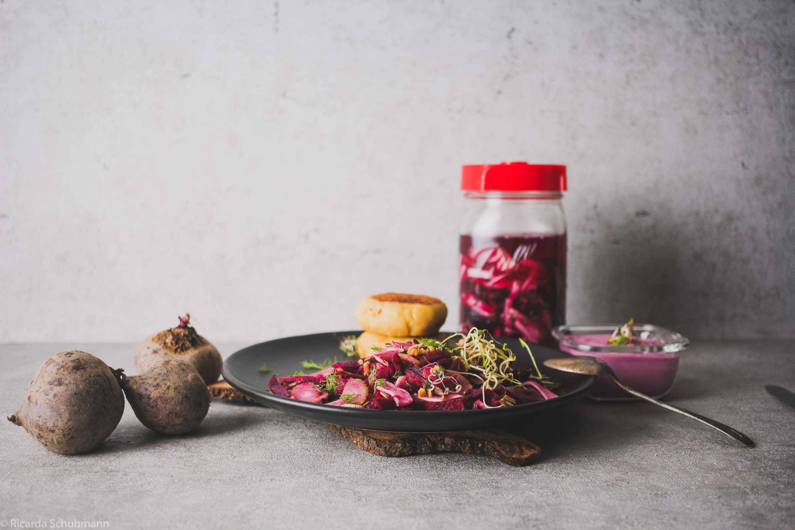 Ein probiotisches Mittagessen kombiniert mit Präbiotika