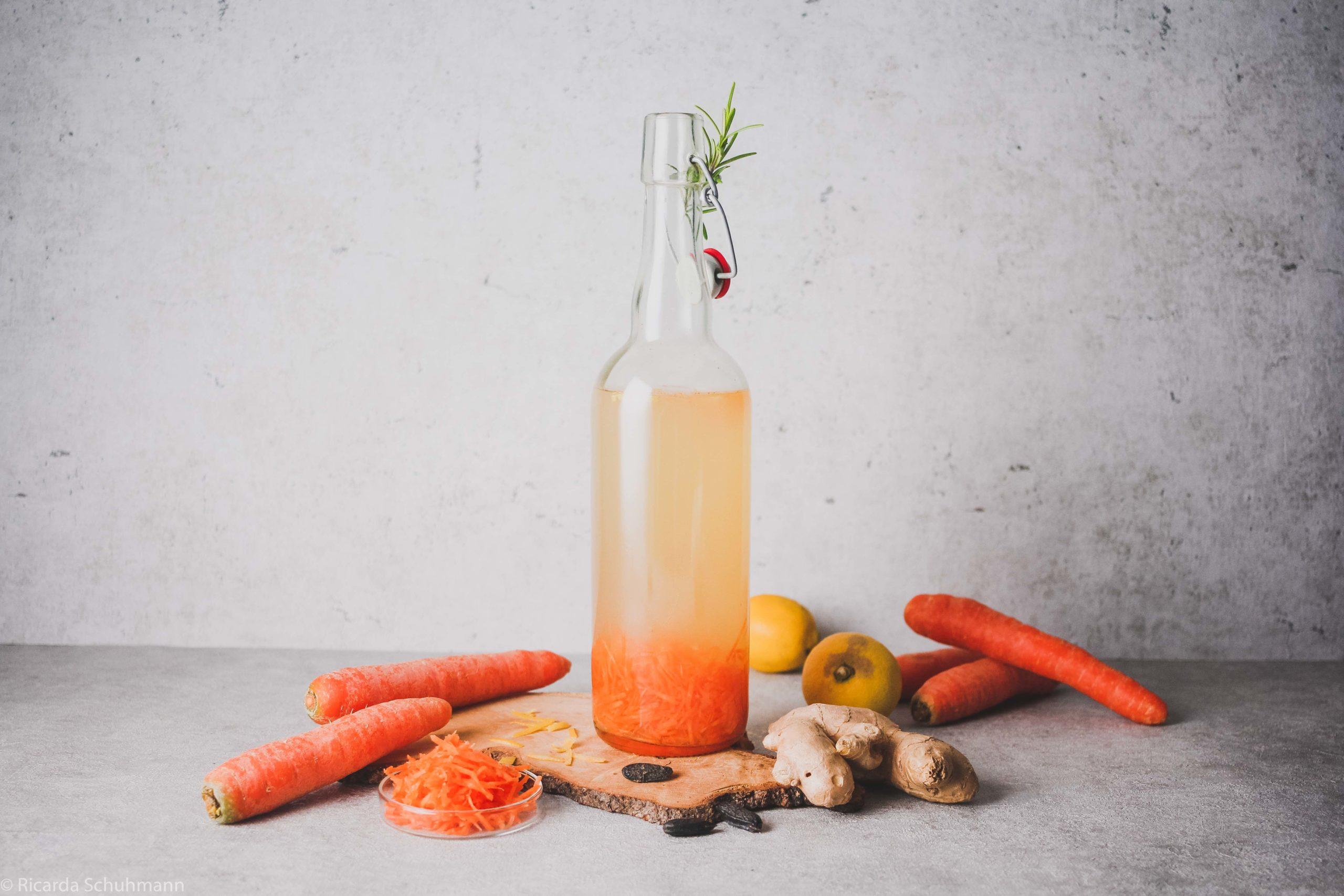 Wasserkefir mit Karotte