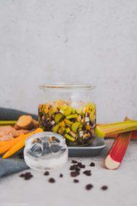 Fermentiertes Rhabarber-Relish mit Habaneros