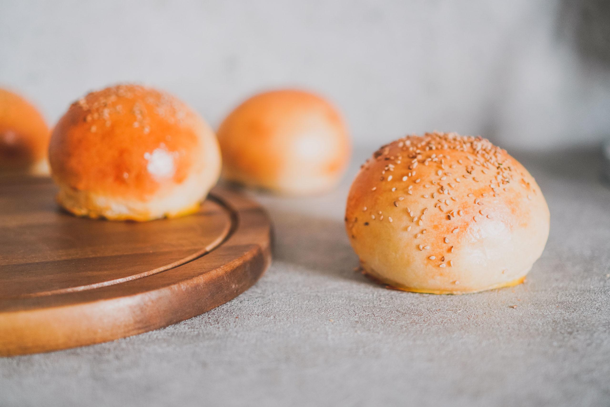 Brioche Burger-buns mti Sauerteig