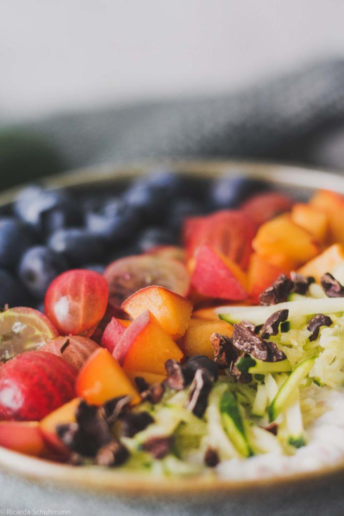 Fermentiertes Getreide mit Zucchini