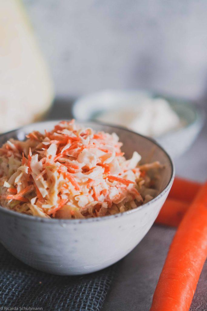 Curtido als Krautsalat zubereitet