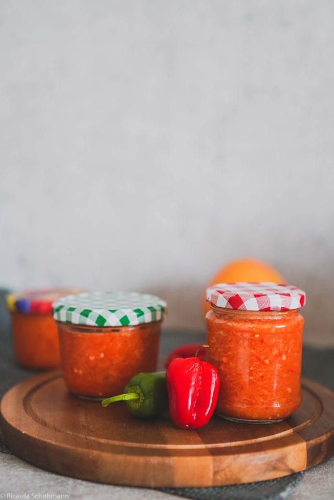 Hot Sauce mit Zitrusnote